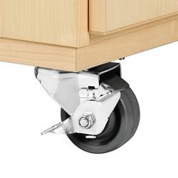 "Robotics Tote Mobile Storage Cabinet w/ VEX Label (48"" W x 24"" D x 53"" H) - Casters"