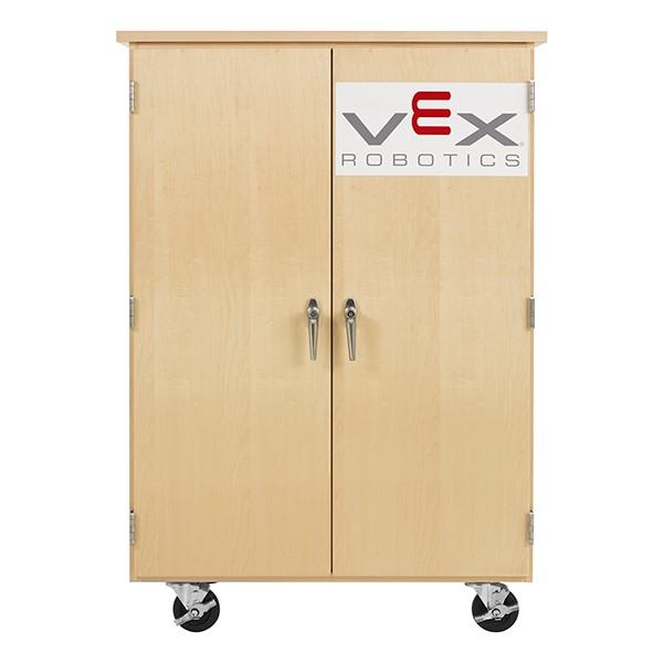 "Robotics Tote Mobile Storage Cabinet w/ VEX Label (36"" W x 24"" D x 53"" H)"