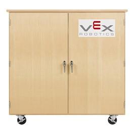 "Robotics Tote Mobile Storage Cabinet w/ VEX Label (48\"" W x 24\"" D x 53\"" H)"
