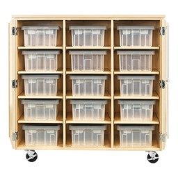 """Robotics Tote Mobile Storage Cabinet w/ VEX Label (48"""" W x 24"""" D x 53"""" H) - Totes not included"""