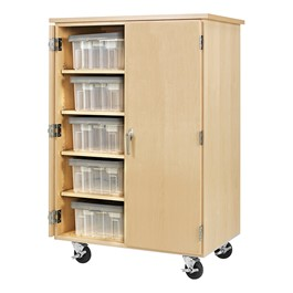 """Robotics Tote Mobile Storage Cabinet  (36\"""" W x 24\"""" D x 53\"""" H) - Totes not included"""