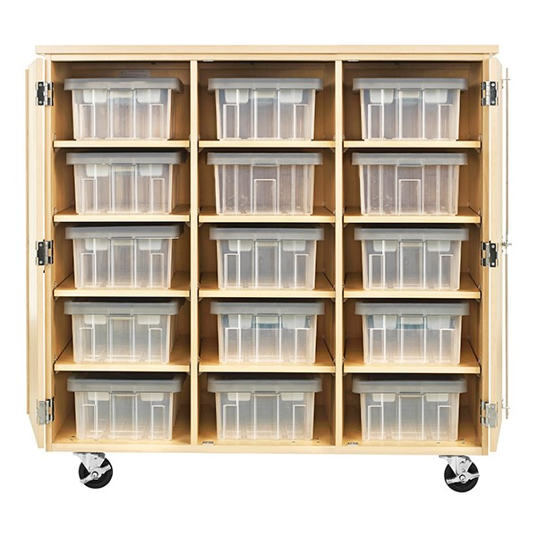 """Robotics Tote Mobile Storage Cabinet  (48"""" W x 24"""" D x 53"""" H) - Totes not included"""