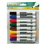 Wedge Tip Dry Erase Markers - Black - 8 Count