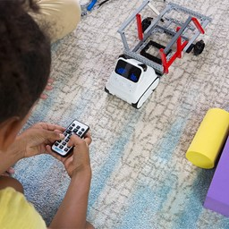 Student controlling Codey-Rocky Coding Robot