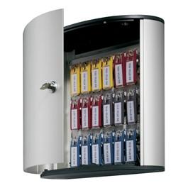 Contemporary Brushed Aluminum Key Box Cabinet