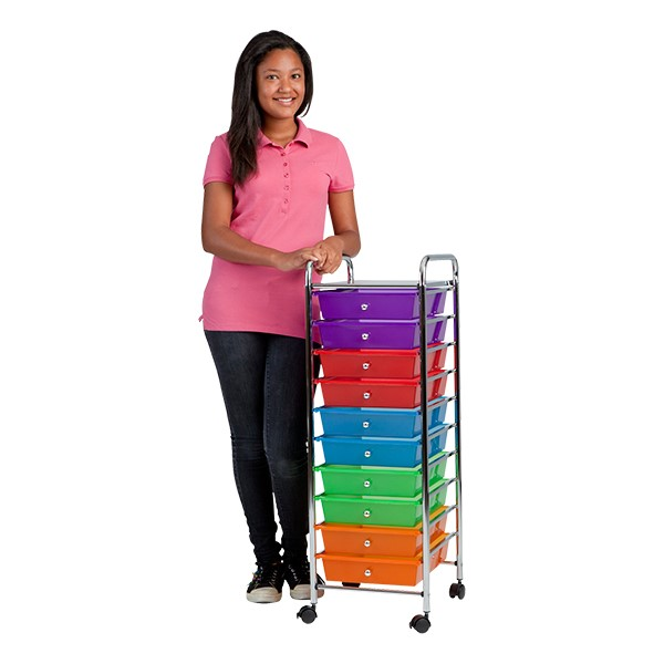Mobile Organizer w/ 10 Drawers - Assorted
