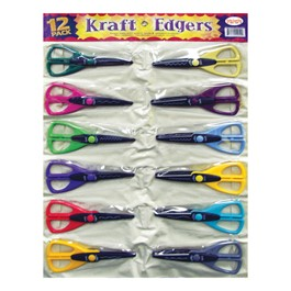 12-Piece Kraft Edger Scissors w/ Vinyl Storage Pouch