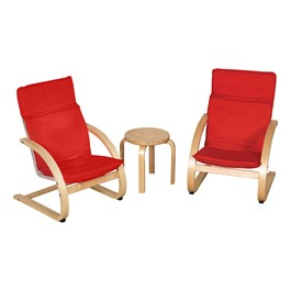 Bentwood Comfort Chair Set w/ Table