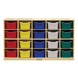 20-Tray Cubby Unit w/ Assorted Colorful Trays