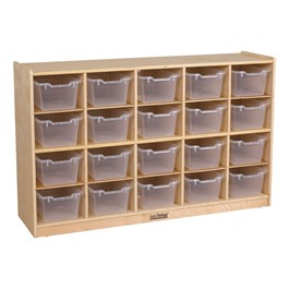 20-Tray Cubby Unit w/ Clear Trays