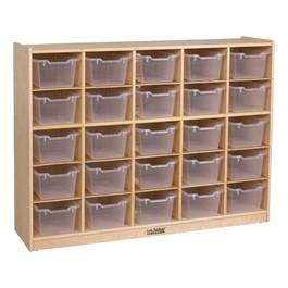 25-Tray Cubby Unit w/ Clear Trays