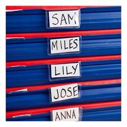 Rest Mat - Plastic name tag holder shown