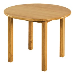 Deluxe Hardwood Round Table