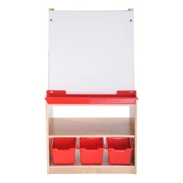 Art Easel w/ Storage - Two Station