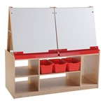 Art Easel w/ Storage (four station)