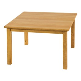 Deluxe Hardwood Square Table