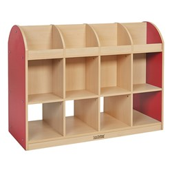 Colorful Essentials Book Storage Island - Red