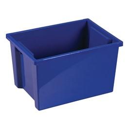 Colorful Essentials Large Storage Bin w/o Lid - Set of 20 - Blue