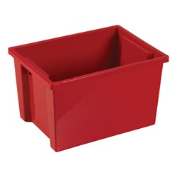 Colorful Essentials Large Storage Bin w/o Lid - Set of 20 - Red