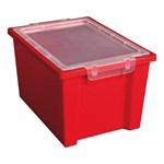 Colorful Essentials Large Storage Bin w/ Lid - Set of 20 - Red