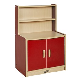 Colorful Essentials Play Kitchen - Cupboard - Red