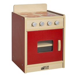 Colorful Essentials Play Kitchen - Stove - Red