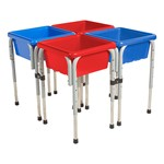 Four-Station Square Sand & Water Play Table w/ Lids