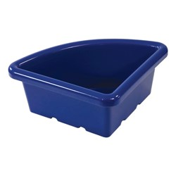 Quarter-Round Storage Tray w/out Lid<br>Shown in blue