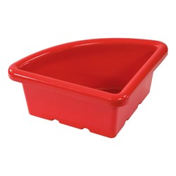 Quarter-Round Storage Tray w/out Lid<br>Shown in red