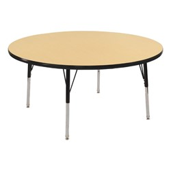 Round Adjustable-Height Activity Table - Maple top w/ black edge