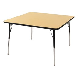 Square Adjustable-Height Activity Table - Maple top w/ black edge band