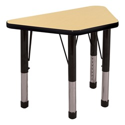 Trapezoid Learning Table - Toddler Height - Maple top & black edge band & chunky legs