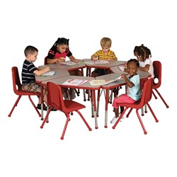 Trapezoid Learning Table - Toddler Height