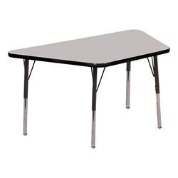 Trapezoid Adjustable-Height Activity Table - Gray top w/ black edge
