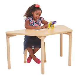 Trapezoid All-Purpose Play and Work Activity Table