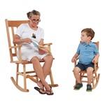 Classic Oak Rocking Chair
