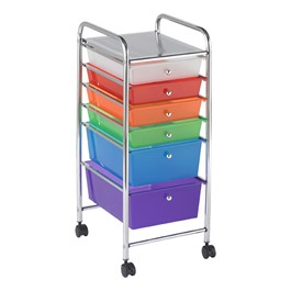 Mobile Organizer w/ Six Drawers - Assorted