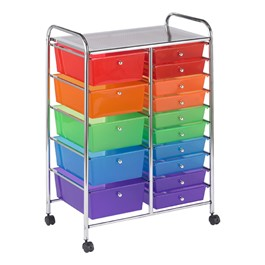 Mobile Organizer w/ 15 Drawers - Assorted