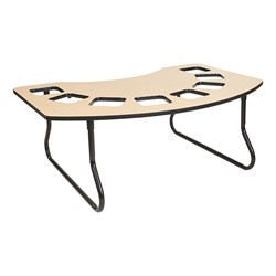 "Toddler Feeding Table w/ Eight Seats (72"" W x 48"" D) - Maple Top/Black Edge Band"