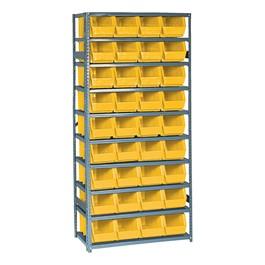 Bin Shelving System w/ 36 Bins
