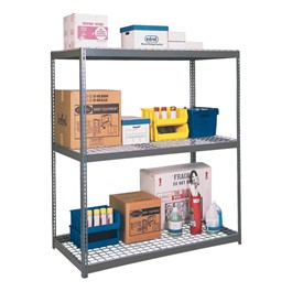 Rivet Lock Boltless Bulk Shelving w/ Wire Deck