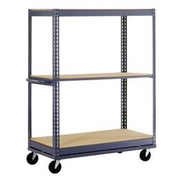 Boltless Mobile Shelf Truck w/ Three Shelves