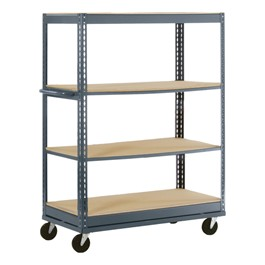 Boltless Mobile Shelf Truck w/ Four Shelves
