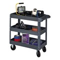 Heavy-Duty Steel Service Cart w/ Three Shelves