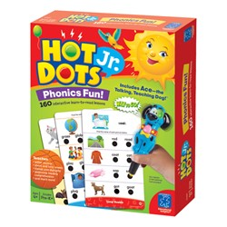 Hot Dots Jr. Activity Card & Pen Set - Phonics Fun