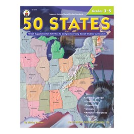 Carson Dellosa 50 States Activity Book (Grades 3-5)