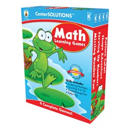 Carson Dellosa Center Solutions Math Learning Games - Kindergarten