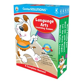 Carson Dellosa Center Solutions Language Arts Learning Games - Kindergarten