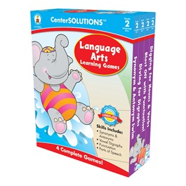 Carson Dellosa Center Solutions Language Arts Learning Games - Grade Two