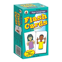 Carson Dellosa Sign Language Flash Cards